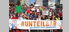 Berlin dev mitingle #unteilbar (bölünmez) diyecek