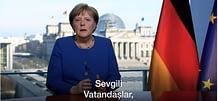 Başbakan Merkel'in Türkçe altyazılı koronavirüs açıklaması