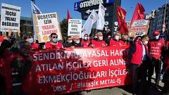 """Çorum ve İstanbul'da eşzamanlı eylem: """"Sendika hakkımız gasp edilemez"""""""
