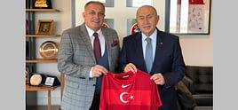 Ayhan Yıldız'dan Türkiye Futbol Federasyonu'na ziyaret