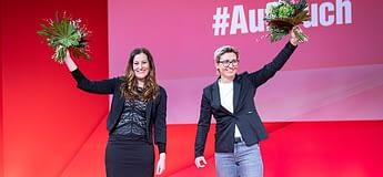 Sol Parti'de yeni genel başkanları Janine Wissler ve Susanne Hennig-Wellsow
